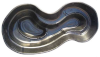 Декорат.пруд 3200л черный (385х178х95см)