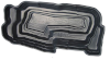 Декорат.пруд 4800л черный  (432х197х80см)