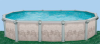 Бассейн Гибралтар овальный глубиной 1.32м, размером 10.0х5.5м (комплект)