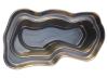 Декорат.пруд 3750л черный (384х189х82см)