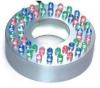 Кольцо светодиодное RGB (не управл),  3.0Вт, стальное, Д.34мм х 80мм, с трансф 12В (SUPERPOND), арт. LR-48C