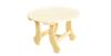 Стол круглый 0.5м х 0.5м, высота 0.6м (липа), арт. ММ235