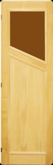 Дверь 70х190 липа со стеклом косым правая, арт. ДС-1-Пр