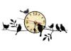 Часы ПТИЧКИ НА ВЕТКЕ для предбанника (липа), арт. ЧР-ПТ