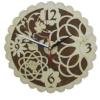 Часы ЦВЕТОЧНЫЕ для предбанника (липа), арт. ЧР-ЦВ