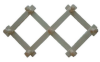 Вешалка с 7-ю крючками раздвижная (липа), арт. ВР-7