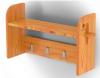 Вешалка с 3-мя крючками и полкой стеновая (лиственница натуральная со специальным покрытием)