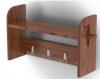 Вешалка с 3-мя крючками и полкой стеновая (лиственница мореная со специальным покрытием)