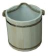 Ведро 10л с пластмассовой вставкой (липа), арт. ВП-10
