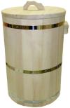 Чан 45л с крышкой (кедр), арт. 10016