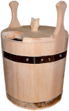 Запарник 30л с крышкой (кедр), арт. 010013