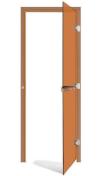 Дверь стеклянная 69х185 бронза/кедр левая с прямоугольной ручкой (SAWO), арт. 730-3SGD-L