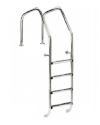 Лестница IML OVERFLOW стальная А316 с 4 ступенями с противоскользящими накладками (Испания), арт. PS-0803