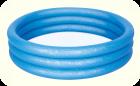 Бассейн надувной BESTWAY 100х25 синий (с 3-мя надувными кольцами), арт. 51024(синий)