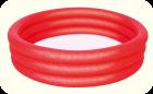 Бассейн надувной BESTWAY 100х25 красный (с 3-мя надувными кольцами), арт. 51024(красный)