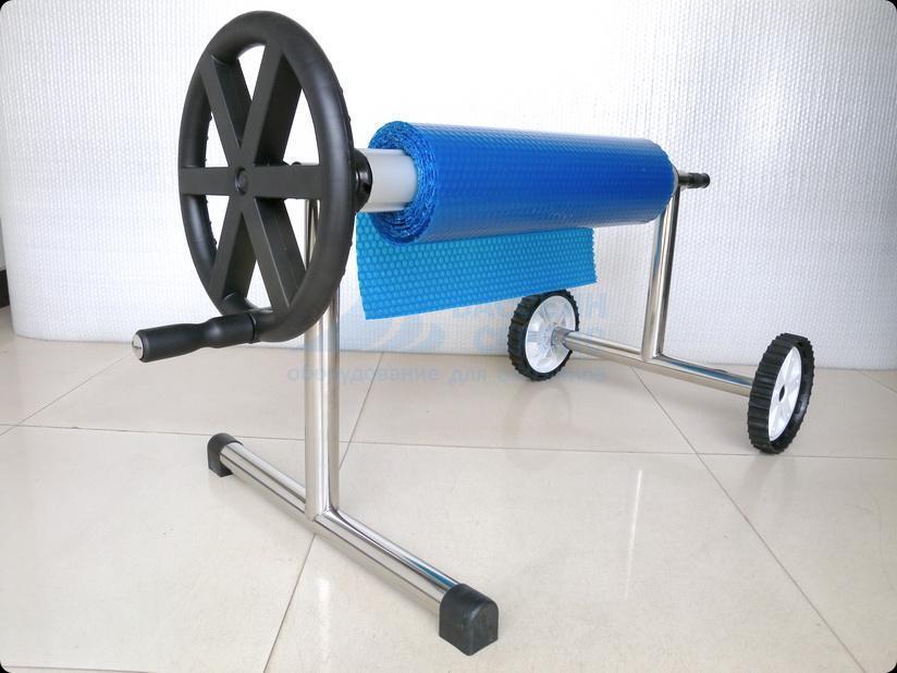 Опора роллера POOLKING колёсная 1шт и переносная 1шт (нерж) с трубой 4.0-5.5м (алюминий), арт. SCR083