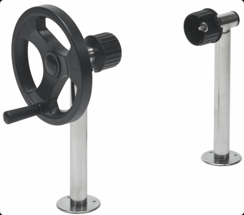Опора роллера VAGNER POOL с креплением к полу  2шт (нерж) для трубы VAGNER POOL, арт. 6013000