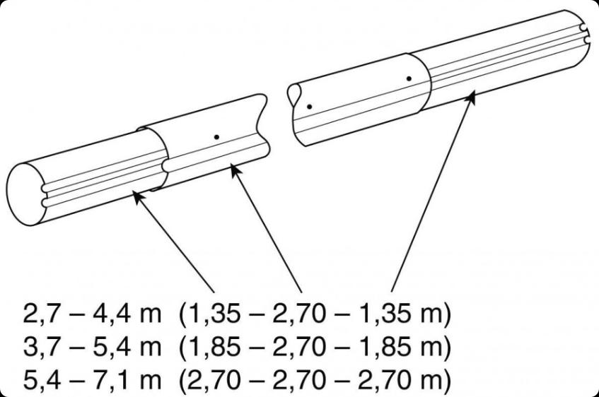 Труба VAGNER POOL 3.7-5.4м (алюминий) для опоры VAGNER POOL, арт. 6011754